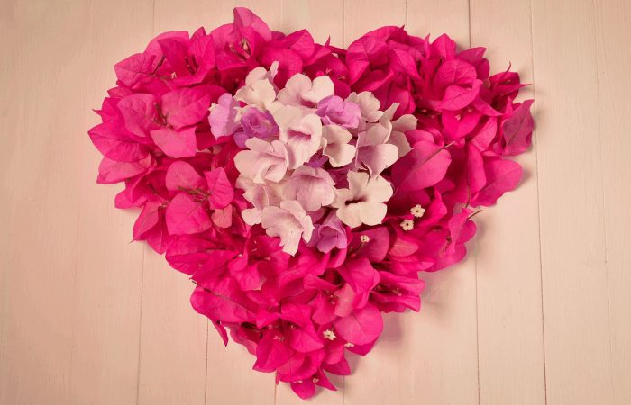 Heart flower art Mother's Day DIY