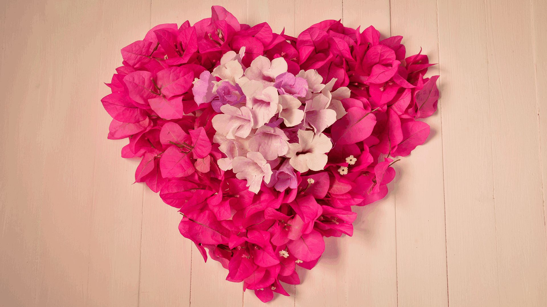 Heart flower art Mother's Day DIY